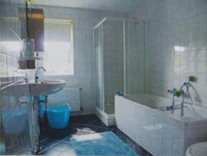 Bestaande badkamer voor de renovatie