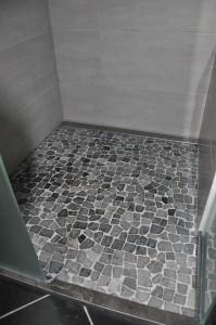 Detail vloer inloopdoche
