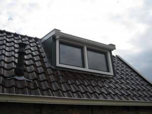 Complete renovatie dakkapel met kunststof.